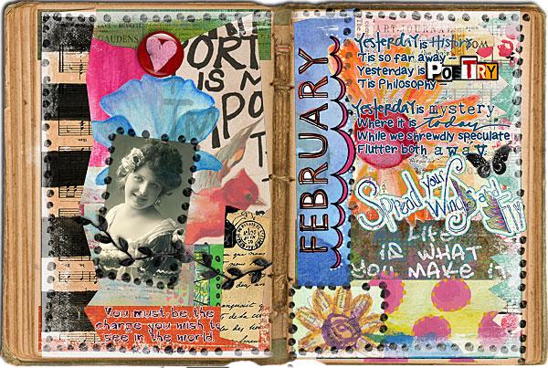 Art Journaling 102: Spotlight on Julie Prichard's Blog ...