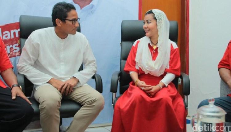 Sandiaga Uno: Hari Ini Dapat Dukungan dari Hasnaini Moein