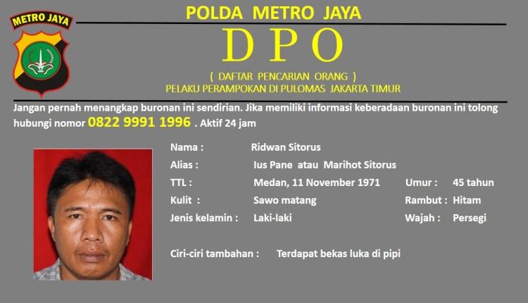 DPO Pius Perampok di Pulomas