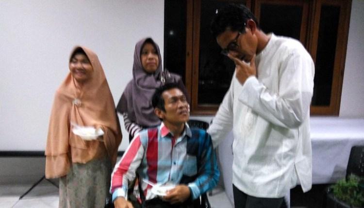 Mentor Wirausaha Seorang Difabel Pada Acara Sandiaga Uno
