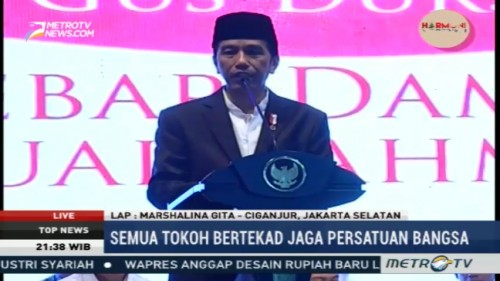 Jokowi: SEMUA TOKOK BERTEKAD JAGA PERSATUAN BANGSA