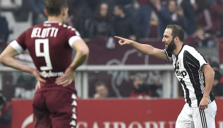 Gonzalo Higuain mencetak Dua Gol, Juve Kalahkan Torino 3-1