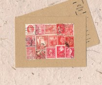 Vintage Red Postcard
