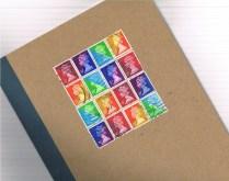 Rainbow Postal Patchwork Pinwheel (large)