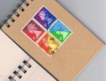 Rainbow Postal Patchwork Pinwheel (mini)
