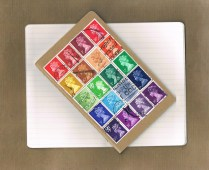 Rainbow Postal Patchwork (pocket)