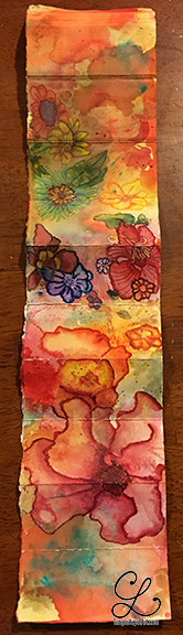 First mini-book on white. Accented with watercolor and colored pencil.