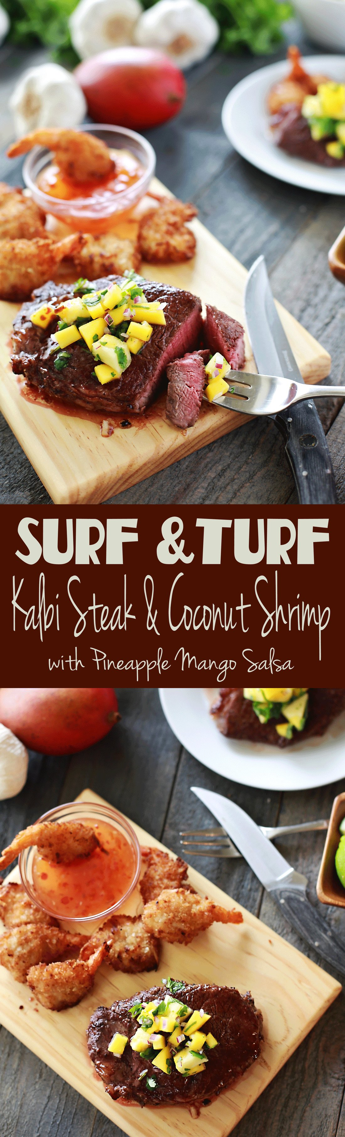 DELICIOUS and easy recipe for surf and turf steak