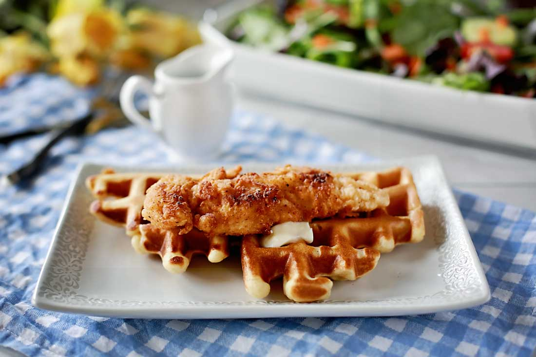 Chicken and waffles rock this world!