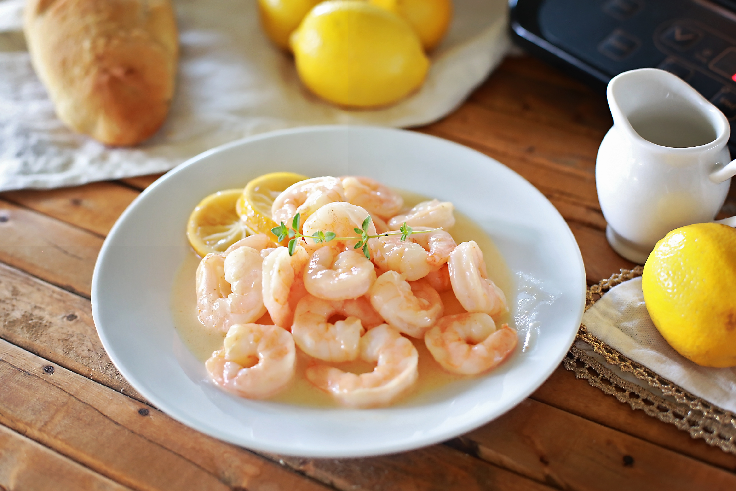 AMAZING Lemon Butter Shrimp recipe by Flirting with Flavor!