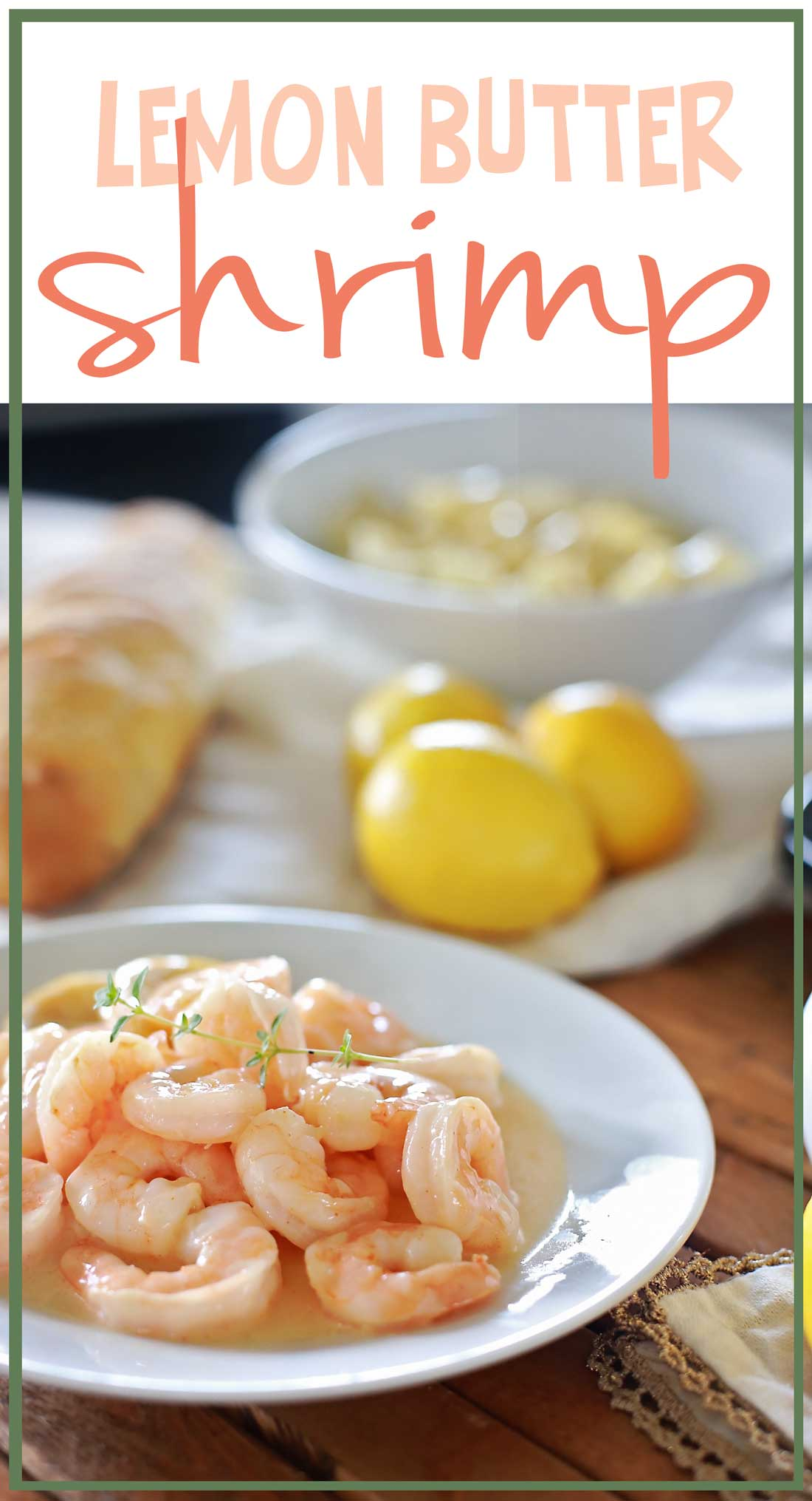 Life changing GOOD lemon-butter shrimp recipe by Flirting with Flavor!