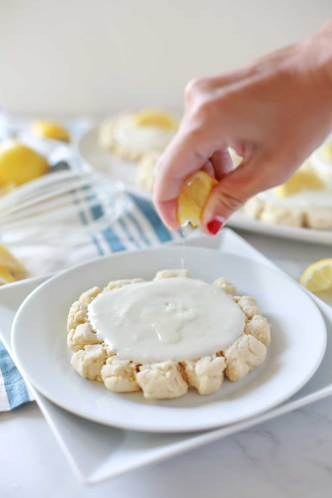 Sour Cream Lemon Sugar cookies by Flirting with Flavor