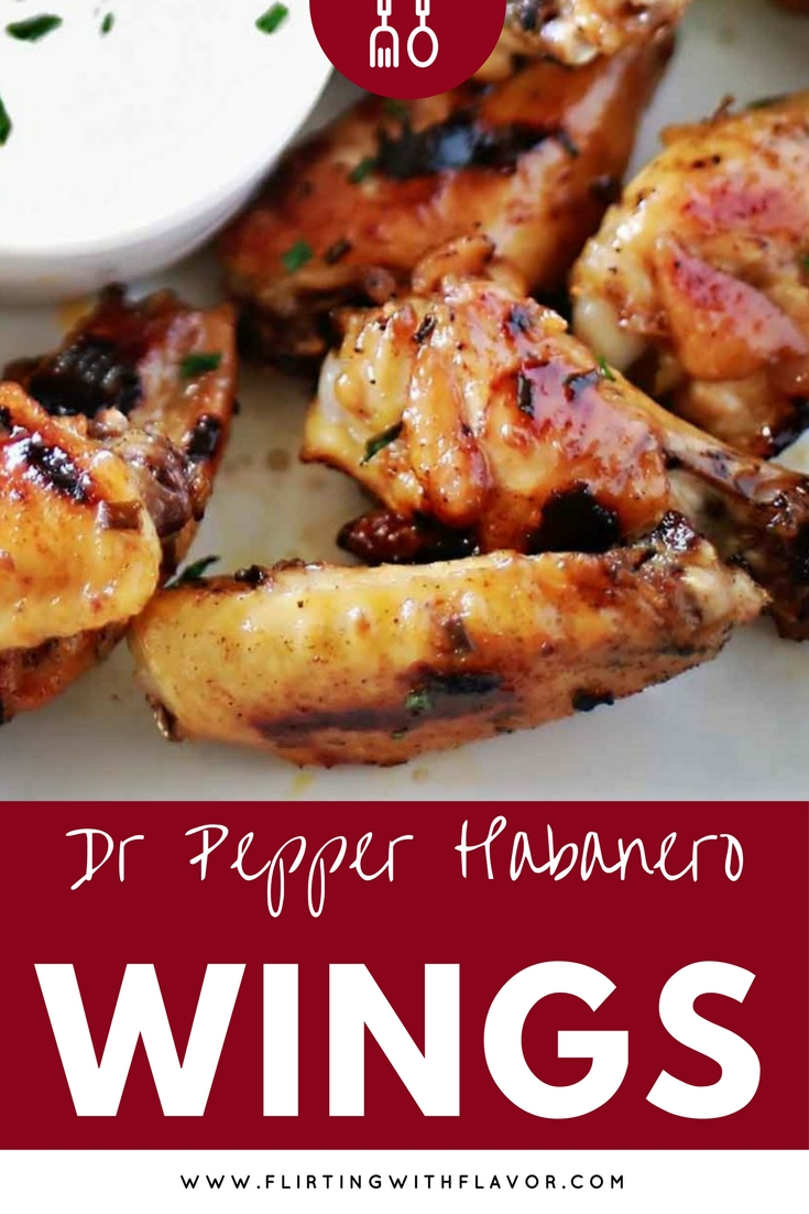 Yummy Dr Pepper glazed chicken wings with a little kick from the habaneros. These were SOOO good!