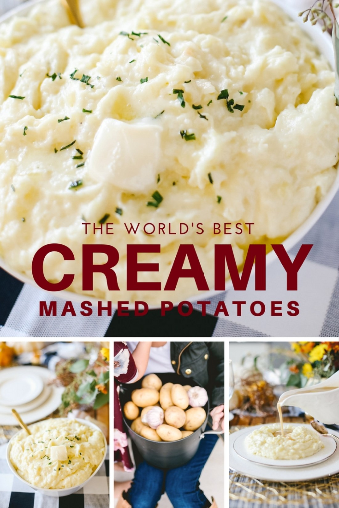 BEST Mashed Potatoes ever!!! Her tricky for Creamy makes ALL the difference!!
