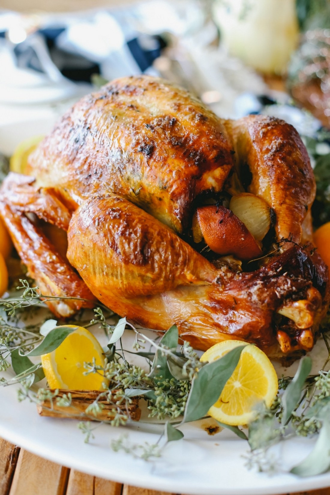 Turkey recipe: this Orange Spiced Turkey is moist, tender, delicious & the perfect centerpiece for your holiday meal! Easy to make & bursting with flavor.