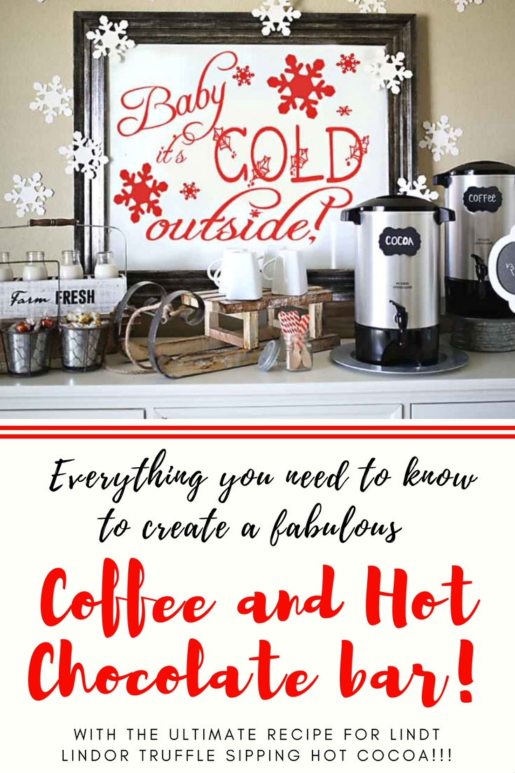 Amazing and Easy Coffee and Hot Chocoalte Bar with tips and tutorials plus a delicious recipe for truffle hot cocoa! #sponsored #collectivebias