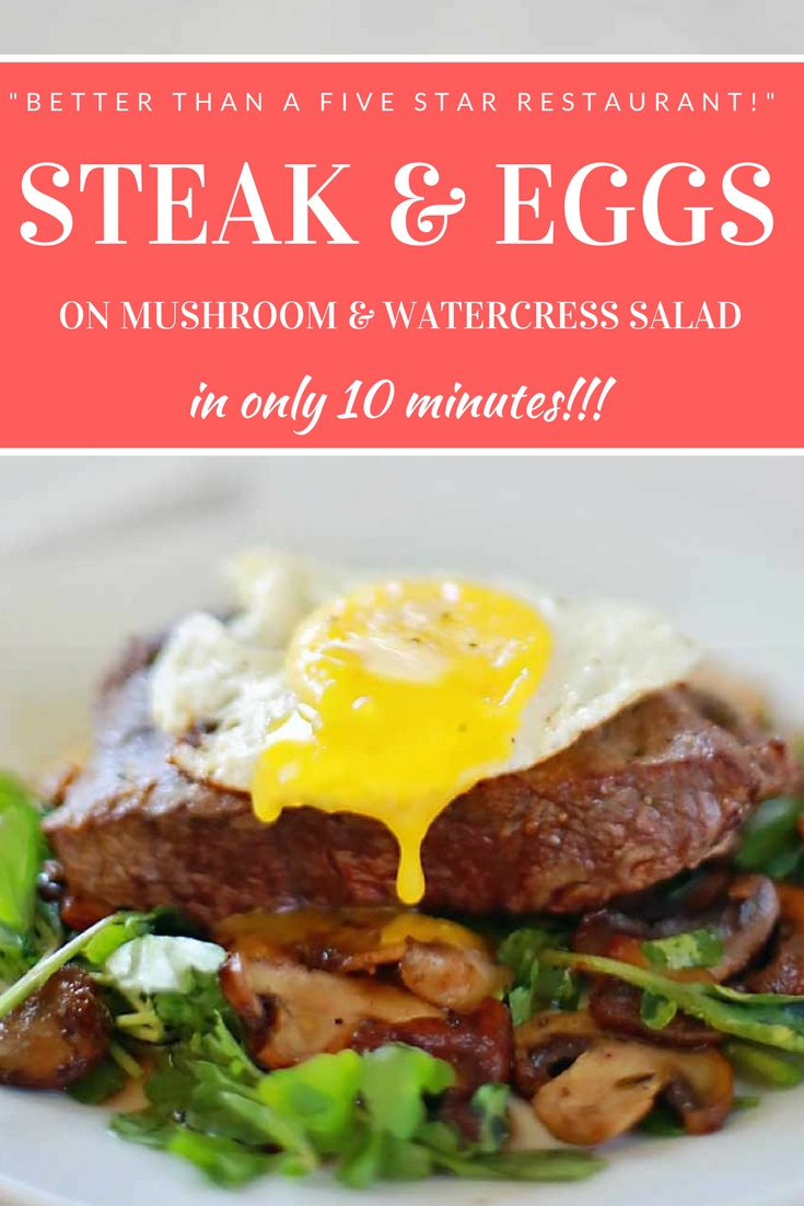 Holy cow this Steak and Eggs was amazing! It took me 15 minutes not ten but was so worth it!!!