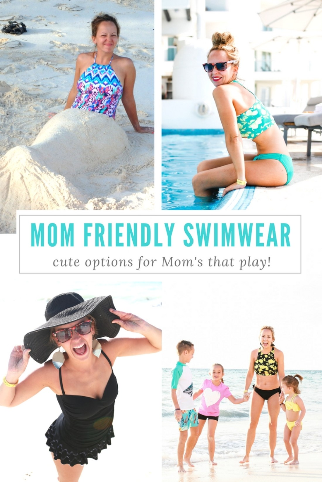 Fun swim options that are supportive and modest but still cute and fun!