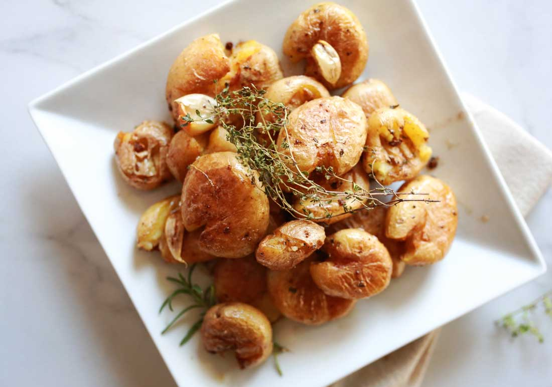 Smashed Potatoes recipe that is easy and delicious and fast
