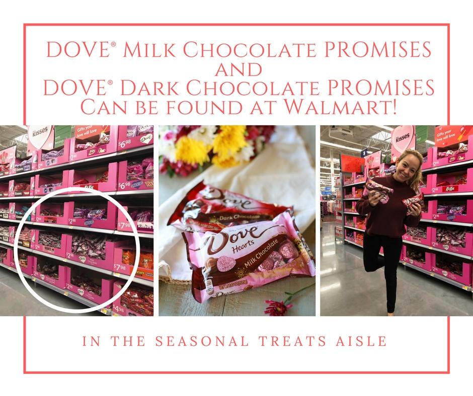 Dove chocolate promises!