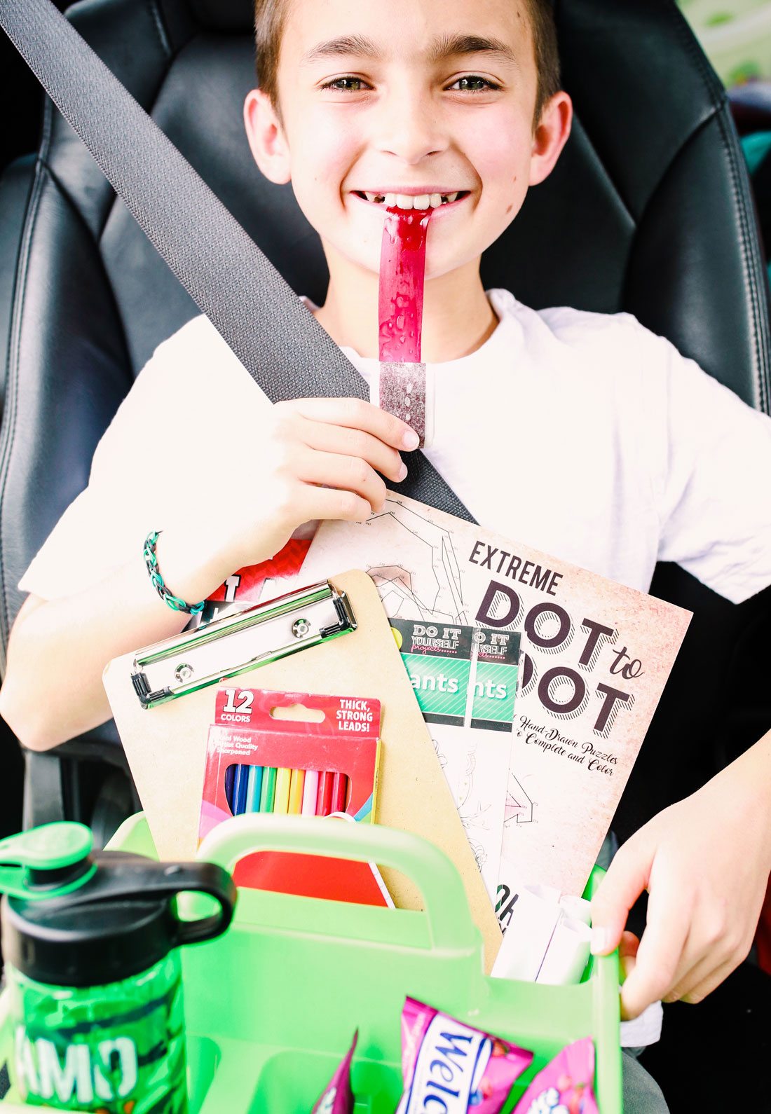 Fun and easy road trip packs for kids with free bingo printable