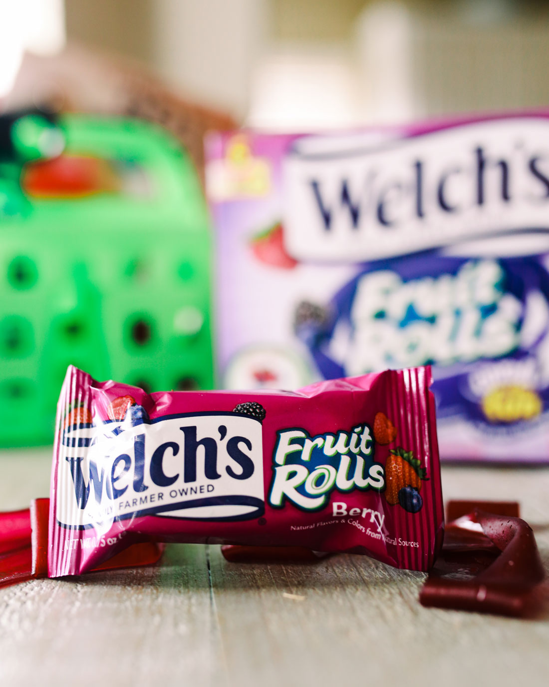 Welch's Fruit rolls! The ultimate road trip snack