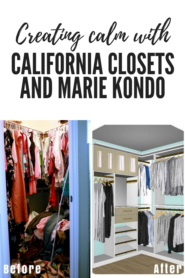 California Closets helped design a customized space to improve the way I live and help foster a joyful and calm environment.