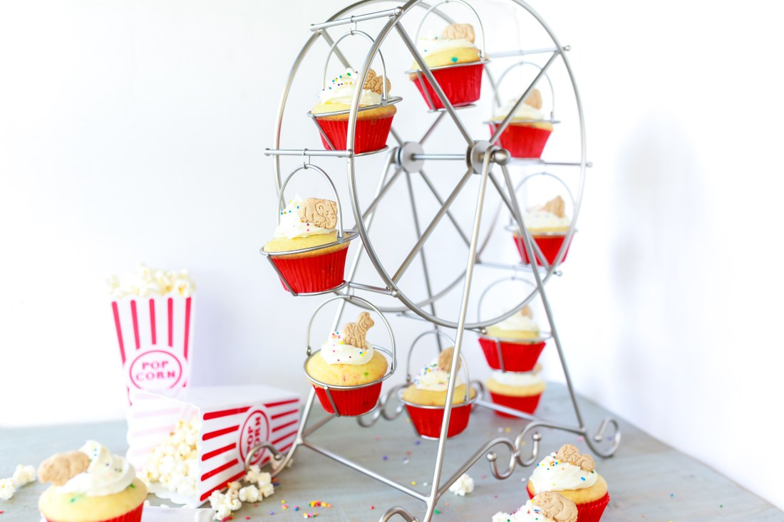 Easy and fun circus cupcakes in minutes!