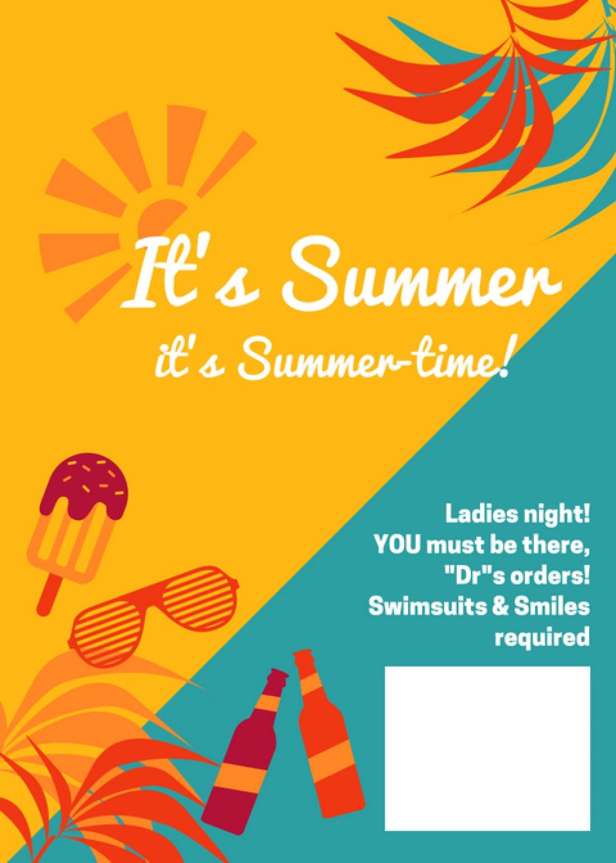Premade Pool Party Invitation FREE