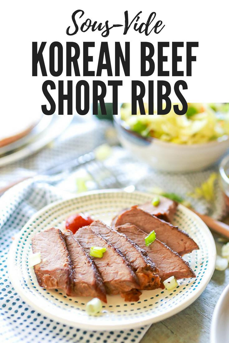 Korean style sous-vide beef short ribs