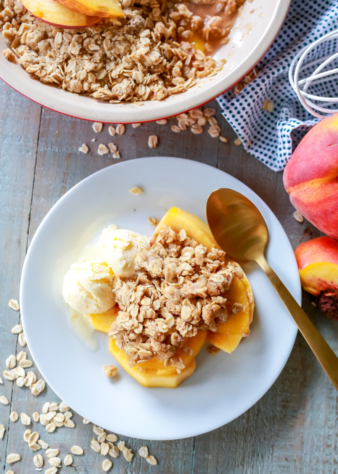 really greAT peach crisp recipe! We all loved it!