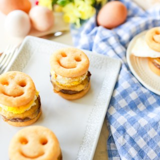Quick, easy, and FUN family breakfast! Sausage, egg, and cheese sandwiches reinvented into a simple but delicious sandwich the whole family can enjoy!!!