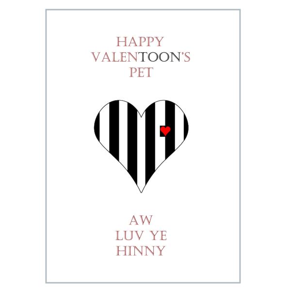 Toon Geordie Valentine card
