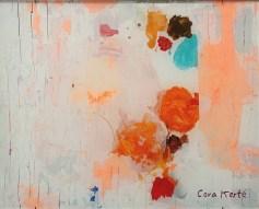 »Dich denken ist dann ganz einfach«, Hinterglasmalerei · 40,5 x 51 cm