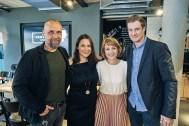 Holger Stanislawski, Sanja Stankovic, Sina Gritzuhn und Marcell Jansen