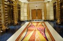 The elevators at the Burj Al Arab