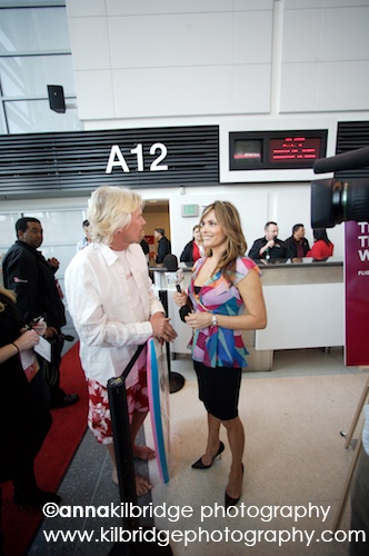 Richard Branson and Teresa Rodriguez Williamson