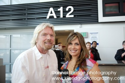 Richard Branson and Teresa Rodriguez Williamson at SFO