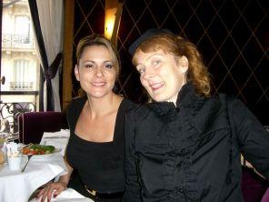 Teresa and Iris at L'Avenue, Paris