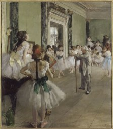 The Dancing Lesson (1873-1876). Edgar Degas (1834-1917). Oil on canvas, 37 3/8 x 29 ½ inches. RMN (Musée d'Orsay)/Hervé Lewandowski