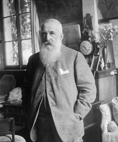 Claude Monet (b/w photo) by French Photographer