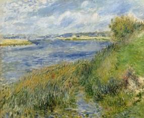 The Seine at Champrosay (1876). Pierre Auguste Renoir (1841-1919). Oil on canvas. 22 x 26 inches. RMN (Musée d'Orsay)/Hervé Lewandowski.