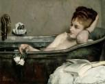 The Bath (1867) Alfred Stevens (1823-1906). Oil on canvas, 29 1/8 x 36 5/8 inches. RMN (Musée d'Orsay)/Hervé Lewandowski