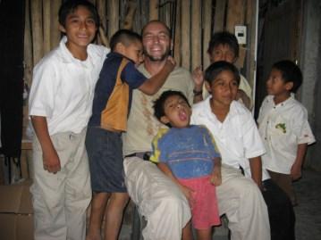 Agustin Villalba and his students