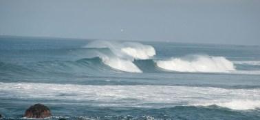 Spindrift shot from Glass Beach