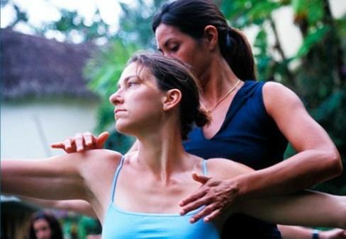 Practicing Morning Yoga