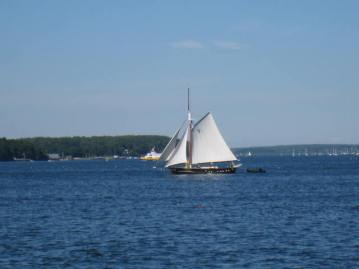 Schooner in Casco Bay
