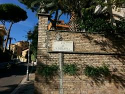 Santa Melania Street Sign