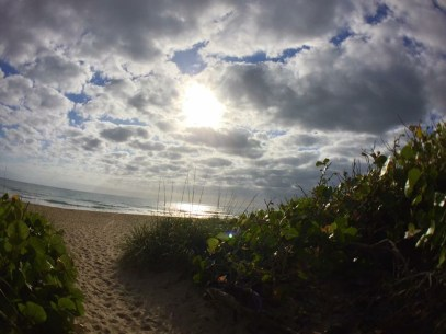 Sun_and_Clouds_over_Path_to_Beach