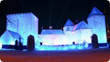 An ice palace in Quebec City.